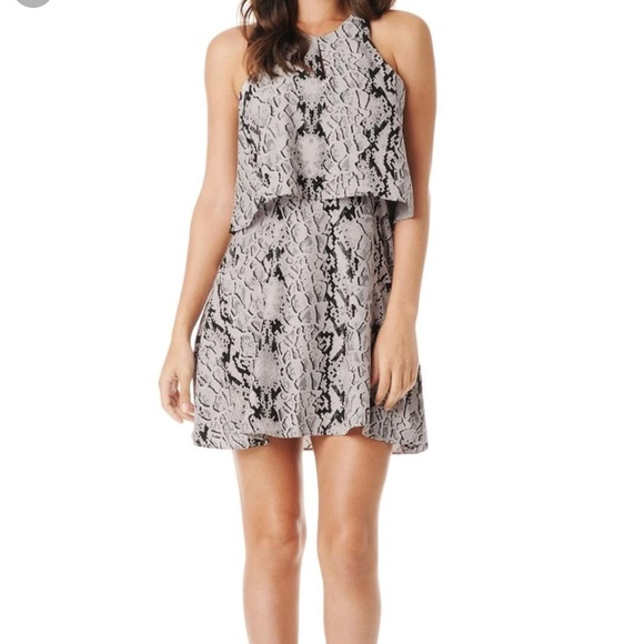 c91ceff0b4de Parker Dresses | New Silk Snake Print Tiered Dress | Poshmark